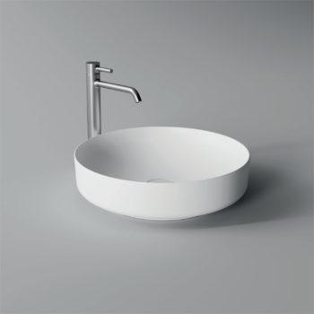 Opbouw Waskom Salenzi Form 45cm Glans Wit (inclusief bijpassende clickwaste)