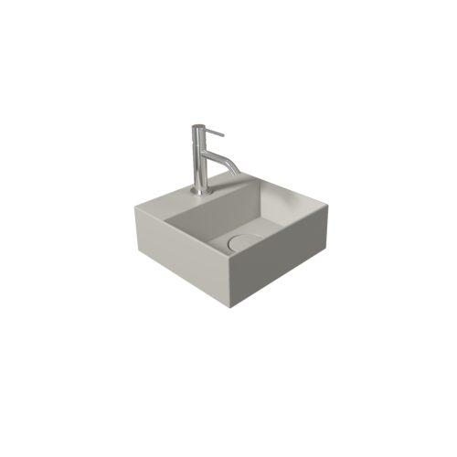 Fontein Salenzi Spy 30x30 cm Mat Grijs (inclusief bijpassende clickwaste)