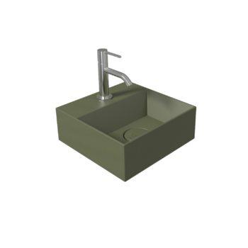 Fontein Salenzi Spy 30x30 cm Mat Legergroen (inclusief bijpassende clickwaste)