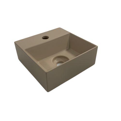 Fontein Salenzi Spy 30x30 cm Mat Taupe (inclusief bijpassende clickwaste)