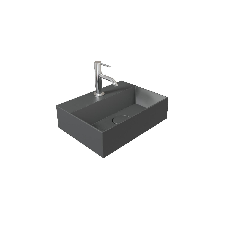 Fontein Salenzi Spy 40x30 cm Mat Antraciet (inclusief bijpassende clickwaste)