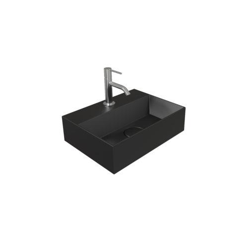 Fontein Salenzi Spy 40x30 cm Mat Zwart (inclusief bijpassende clickwaste)