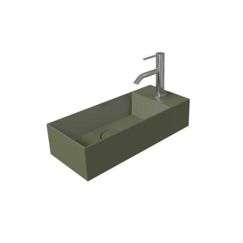 Fontein Salenzi Spy 45x20 cm Mat Legergroen (inclusief bijpassende clickwaste)