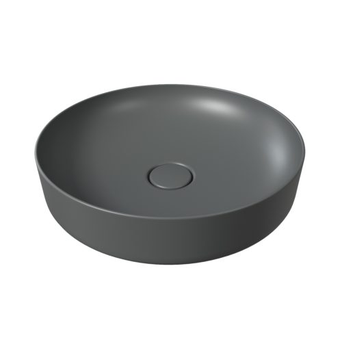 Opbouw Waskom Salenzi Form 45cm Mat Antraciet (inclusief bijpassende clickwaste)
